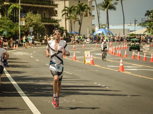 Boris Stein auf der Laufstrecke des IRONMAN Hawaii