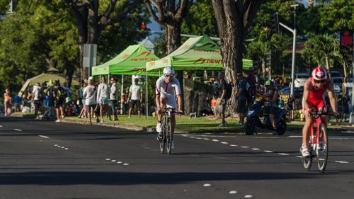 Boris Stein auf dem Rad auf Hawaii