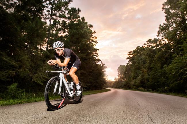 Boris Stein mit Canyon Speedmax in den Woodlands