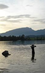 Challenge Walchsee – Einschwimmen