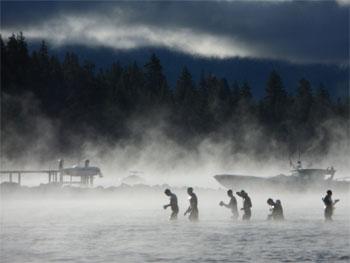 IRONMAN Lake Tahoe – Schwimmausstieg