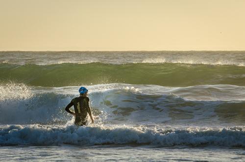 Boris Stein in den Wellen von Port Elisabeth