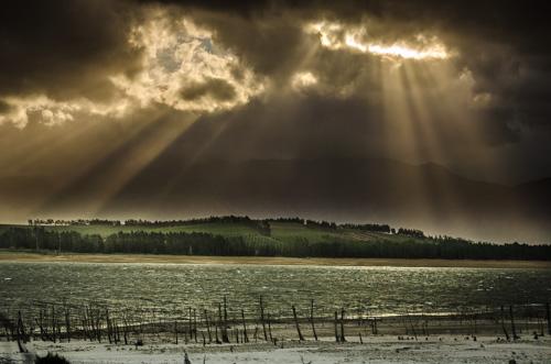 Hotentots Holland Mountains im Sonnenlicht