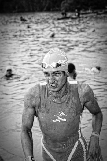 Boris Stein am Schwimmausstieg